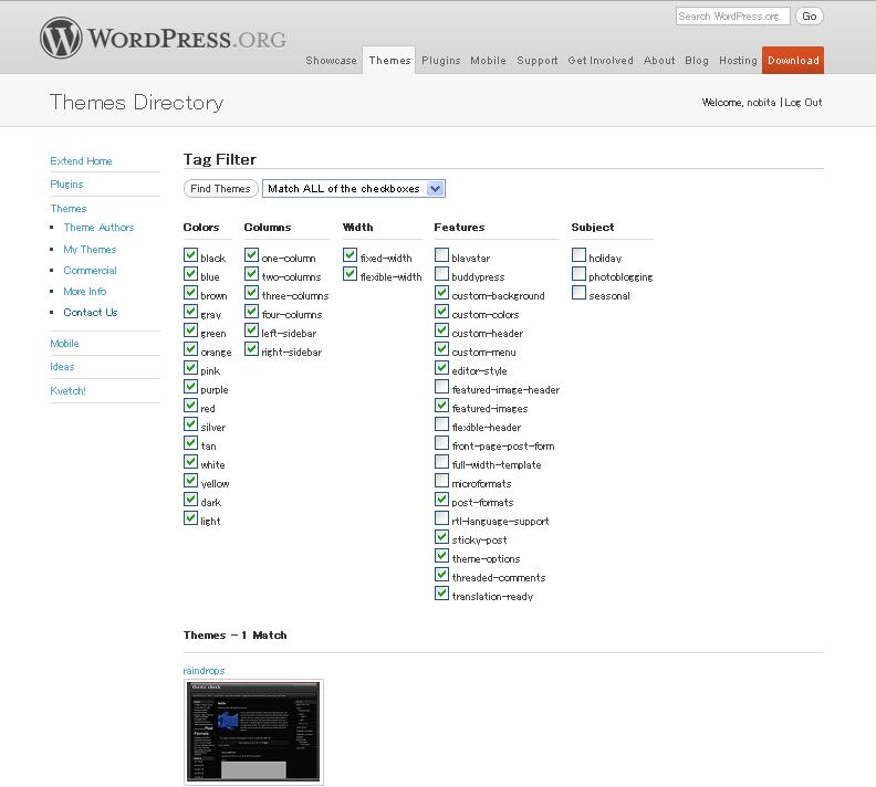 RaindropsはWordPressの機能を忠実に再現します